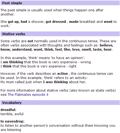 BBC World Service   Learning English   The Flatmates   Language Point 70(4)