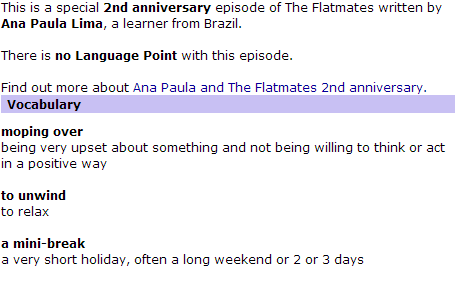 BBC World Service   Learning English   The Flatmates   Language Point 104(3)